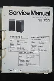 technics sb f original speaker service manual service manual technics sb f33 original speaker service manual service manual wiring diagram