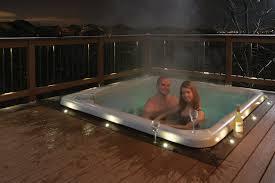 recessed deck lighting bath