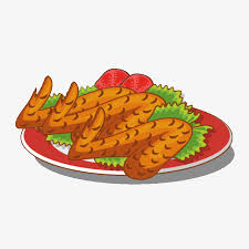 plate of food with chicken clipart. Delighful Chicken A Plate Of Roasted Chicken Wings Plate Clipart Chicken Wings  Clipart PNG And Of Food With O