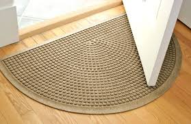 half circle rugs rug nice round entry best entryway for snow