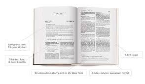 Daily Light Devotional Bible Amazon Com Crossway Esv Daily Light Devotional Bible