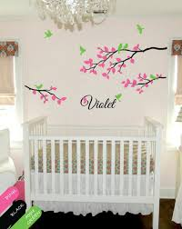 personalized wall decal branch wall decals nursery wall decor name monogram wall decor children branch birds