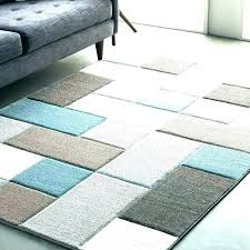 teal and orange runner rug area rugs blue brown tan contemporary geometric street modern carved