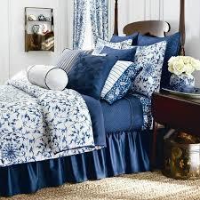 new ralph lauren chaps home camellia queen 4pc comforter set fl white blue duvet cover