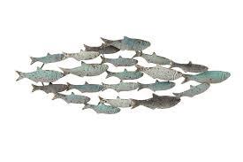 creative co op metal school of fish