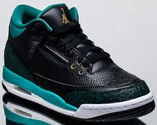 jordan shoes for girls. kids air jordan retro 3 gs jaguars black metallic gold rio teal white 441140-018 us 4.5y shoes for girls s