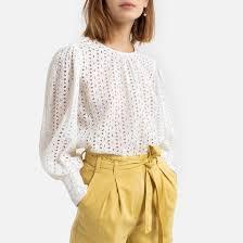 <b>Блузка</b> с длинными рукавами с английской вышивкой <b>La Redoute</b> ...