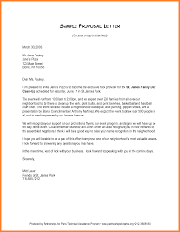 Letter Proposal Format Project Proposal Example Template And Samples Proposal 16