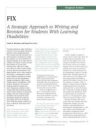 How To Revise A Paper Pdf Fix A Strategic Approach To Writing And Revision For