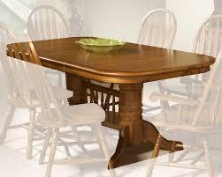 Intercon Furniture Classic Oak Laminated Trestle Dining Table In