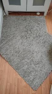 3 ikea hampen beige rugs high pile 80x80 cm includes all