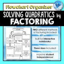 Factoring Flowchart Worksheets Teaching Resources Tpt