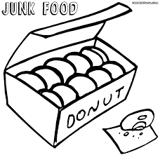 Small Picture Adult junk food coloring pages Junk Food Coloring Sheets Fast
