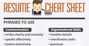 resume cheat sheet