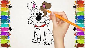 Small Picture Drawing for Kids How to Draw a Dog Cat and Parrot Home