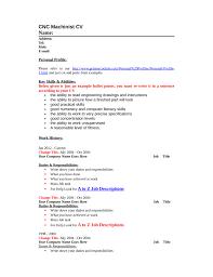 Machinist Resume Template Epic Machinist Resume for Your Blank Cnc Machinist Resume Template 47