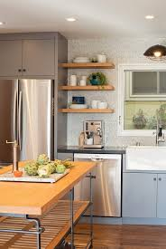 industrial kitchen design a sink penny tile backsplash