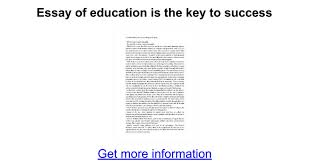 essay of education is the key to success google docs