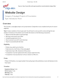 Fbla Web Design Website Design Fbla Pbl