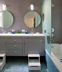 ... Dazzling contemporary kids' bathroom offers a look of class