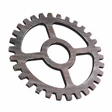 more detailed photos industrial style wooden gear wall decoration