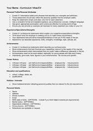 Resume Interests Section Interests Resume Examples Best Of On Template For Child Care 25