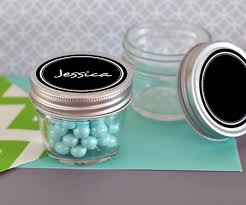 small 4 oz mason jars with vinyl chalkboard labels