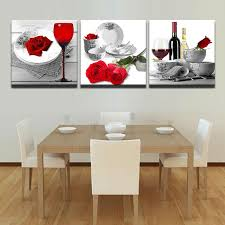 3 piece red roses wine glass flowers canvas wall art paintings it make your day on wine and dine canvas wall art with 3 piece red roses wine glass flowers canvas wall art paintings sale