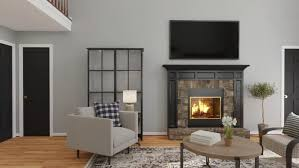 industrial living room with grays