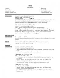 Gallery Of Job Resume Sample Social Worker Example Entry Level Human