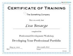 Training Certificate Template Free Download Davidhdz Co