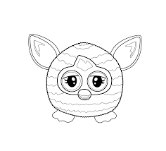 Furby Toy Coloring Pages For Kids