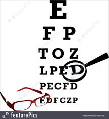 Alphabet Eye Chart Illustration Of Oculist Alphabet