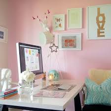 girly office decor. White-desk-top Girly Office Decor