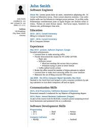 Example Cv Resume Best LaTeX Templates Curricula VitaeRésumés