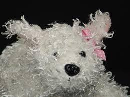 WHITE TERRIER DOG STUFFED PUPPY toy ...