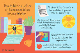 Recommendation Letter For Colleague How To Write A Letter Of Recommendation For A Co Worker