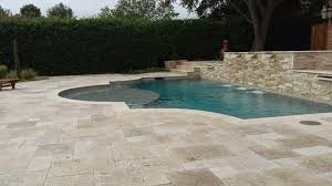 image of how much does a travertine pool deck cost