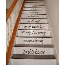 Stairs Quotes Amazing Shop Stair Quotes Stairway We Are A Family In This House Family Home
