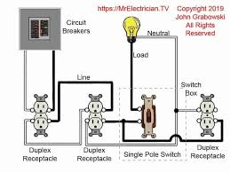outlet feeds outlets & switch Outlet Wiring Design Wall Outlet Wiring