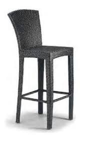 black outdoor wicker bar stool for bar warranty 2 year