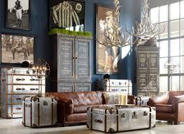 Unique Hanging Lamp Vintage Room Designs Leather Sofas