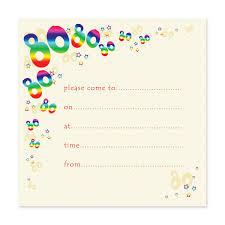 Pack Of 10 80th Birthday Party Invitations