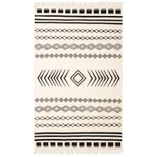 signature styles boho black and white area rug 8x10 jute in black