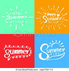Retro Holidays Retro Hand Drawn Elements For Summer Calligraphic Designs Vintage Ornaments For Holidays