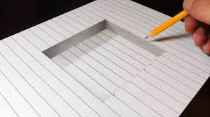 3d pencil drawings step by step and how to draw a step in line paper