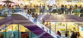 people on escalators. kone escalators and autowalks for new buildings people on