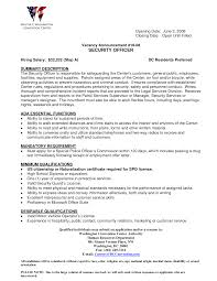 ... security officer resume summary ...