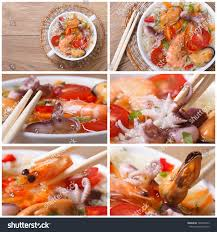 Asian Seafood Soup Closeup Stock Photo ...