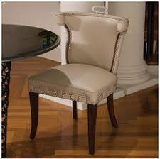 the well appointed house beige leather chair with nickel nailheads chairs furniture find this pin and more on rancho mirage dining room
